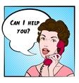 Comics Woman Color vector image