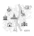 Information city map vector image