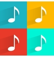 Set of music notes vector image