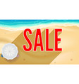 Summer sand of beach on the seashore selling ad vector image