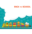 Train with Education Characters Back to School vector image