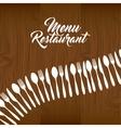 cutlery set restaurant menu vector image