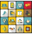 Social network icons set flat style vector image