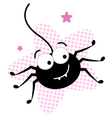 crazy black spider vector image