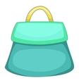 Small woman bag icon cartoon style vector image