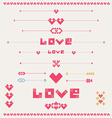 Valentine designs vector image