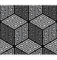 3D Zig Zag Cubes Op Art Seamless Pattern vector image