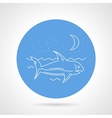 Shark in sea round icon vector image