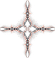 Of circular cross fractal vector image