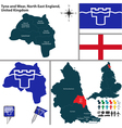 Tyne and Wear North East England vector image
