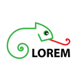 Logo - Line art - Chameleon vector image