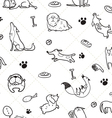 seamless Dogs pattern C vector image vector image