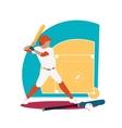 Baseball Sport Concept Icon Flat Design vector image