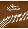 Cutlery set restaurant menu vector image