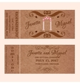 Grunge Ticket for Wedding Invitation with arc vector image