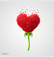 heart-shaped flower built of small hearts vector image