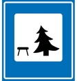 icon showing a picnic table vector image