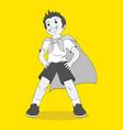 pretending to be a superhero vector image