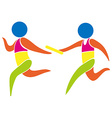 Relay race icon in colors vector image