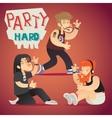 Rock Funs Party Hard Alternative Music Geek vector image