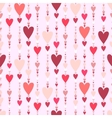 Seamless pattern Hearts striped background vector image