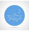 Shark in sea round icon vector image