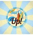 Summer surfing retro background vector image