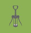 Wine Bottle Corkscrew Icon vector image