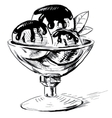 Sweet candy sketch in doodle style vector image vector image