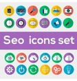Colorful seo icons set vector image