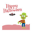 happy halloween greeting card poster banner vector image