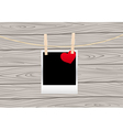 hearts clothespins 05 vector image