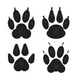 Different cat dog Paw Prints vector image