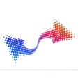 Abstract halftone arrow wave vector image