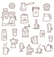 Coffee icon set line vector image