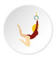 gymnast icon circle vector image