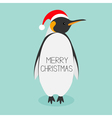 King Penguin Santa red hat Emperor Aptenodytes vector image