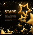 shiny sparkling gold stars on black abstract vector image