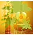 The guitar music vector image