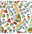 Retro seamless science and education pattern vector image vector image