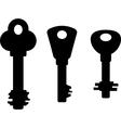 Set of keys vector image vector image