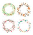 decorative spring autumn summer wreaths vector image