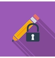 Lock for editing single icon vector image vector image