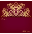 invitation card with filigree elements vector image