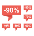 Flat design sale price tags bubbles pointers set vector image
