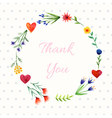 Background with floral wreath vector image