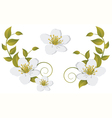 Flowering branch design elements vector image