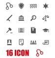 grey justice icon set vector image