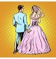 Groom bride wedding love vector image