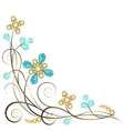 jewelry pattern border vector image